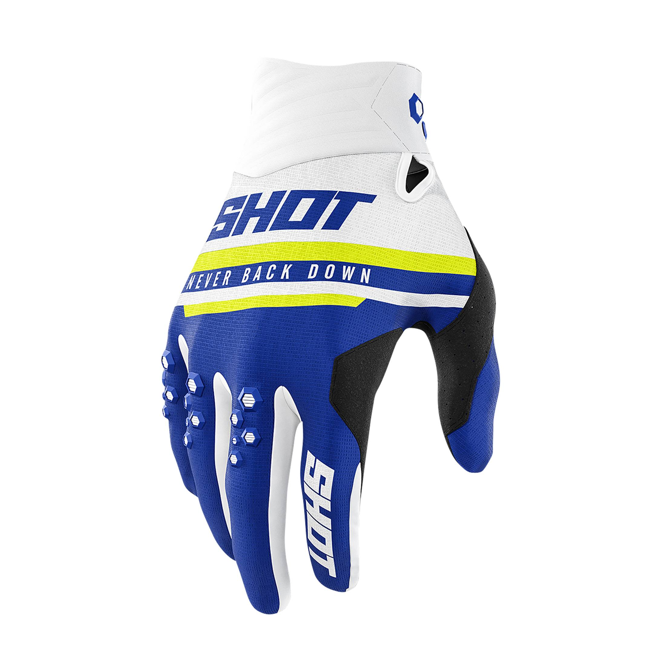 Shot Race Gear Gants Cross Shot Shining Bleu Marine