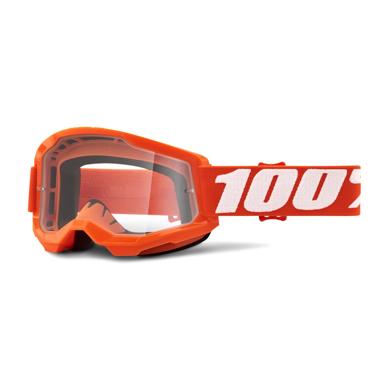 100% Masque Cross 100% Strata 2 Orange