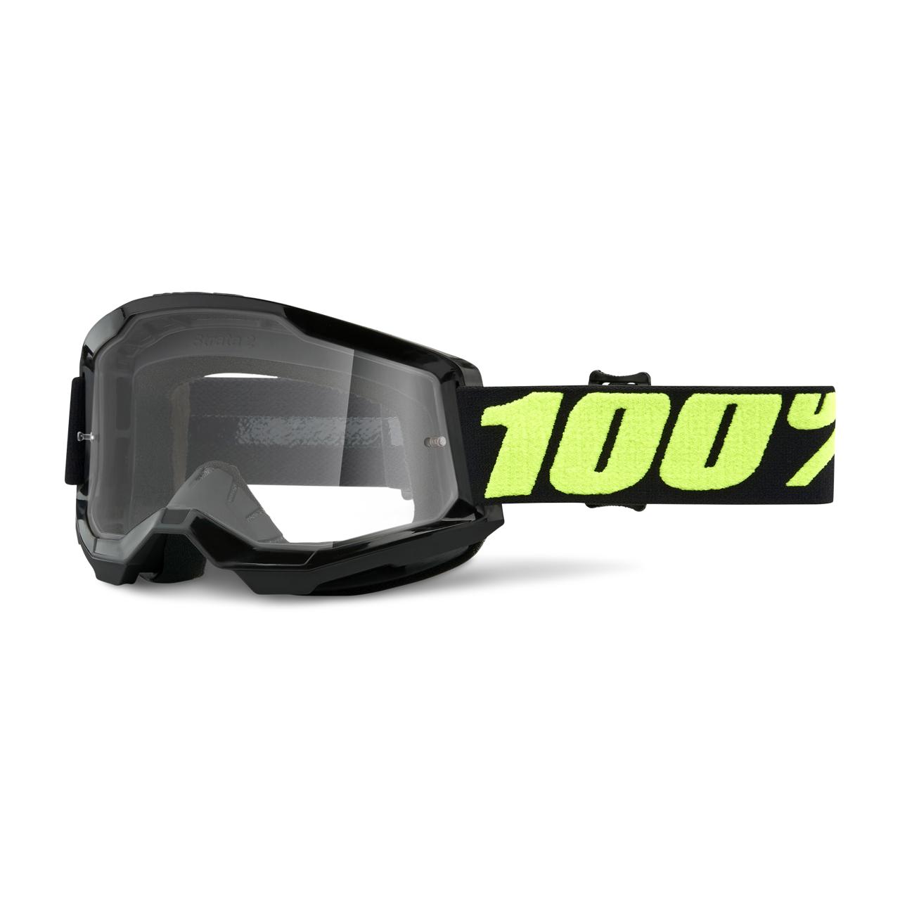 100% Masque Cross 100% Strata 2 Upsol Noir-Jaune