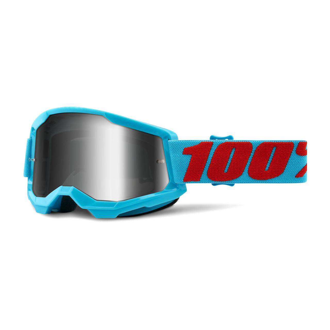 100% Masque Cross 100% Strata 2 Summit Bleu-Rouge