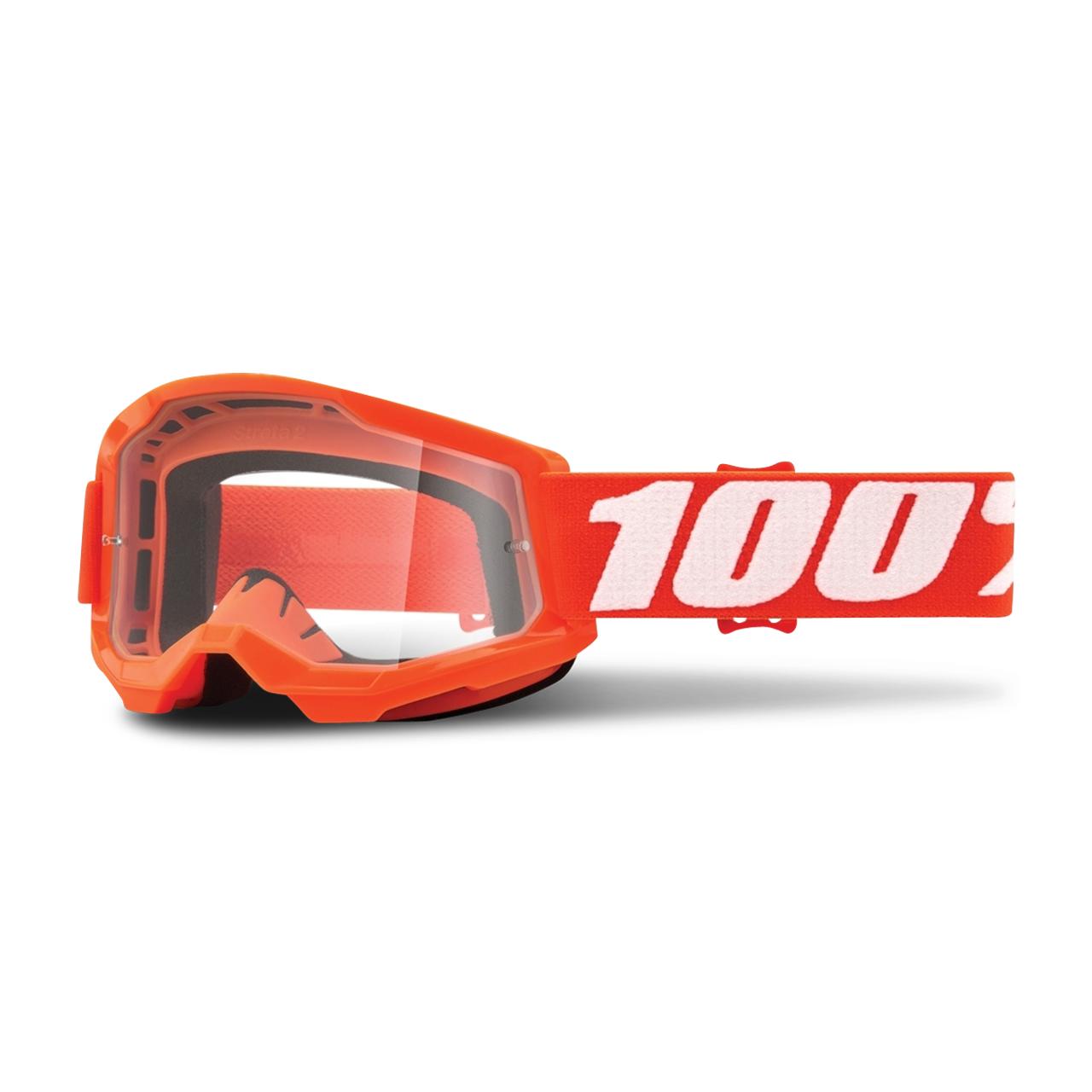 100% Masque Cross Enfant 100% Strata 2 Orange