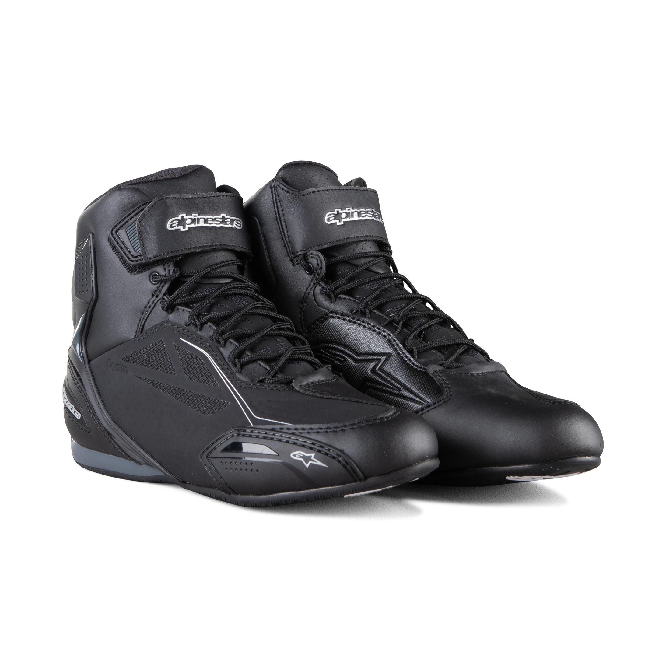 Alpinestars Chaussures Moto Alpinestars Stella Faster-3 Drystar® Noir-Argent 43,5