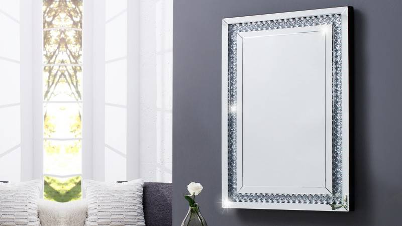 gdegdesign Miroir design rectangulaire à strass - Sonja