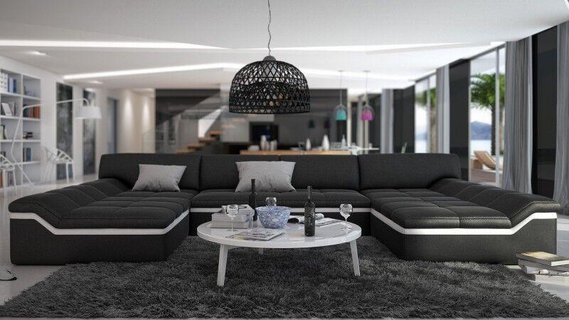 gdegdesign Canapé d'angle panoramique design en cuir - Dorog