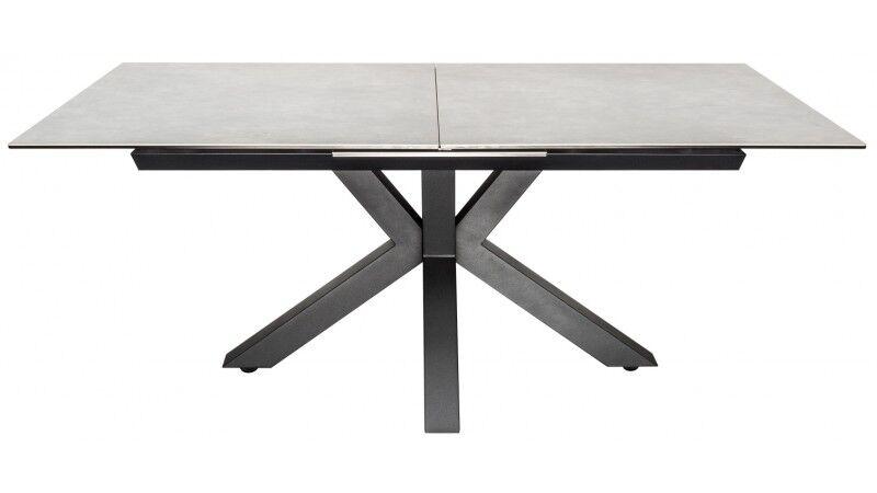 gdegdesign Table à manger extensible béton et acier gris 180 225 cm - Dirce