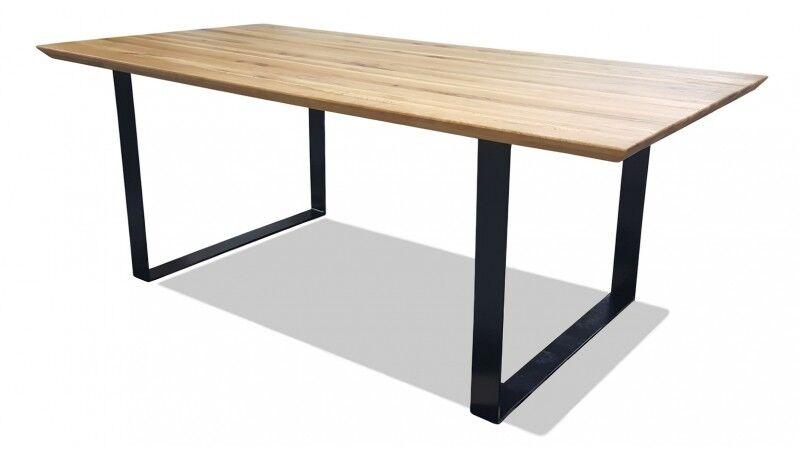 gdegdesign Table à manger rectangulaire bois de chêne massif 200 cm - Conan