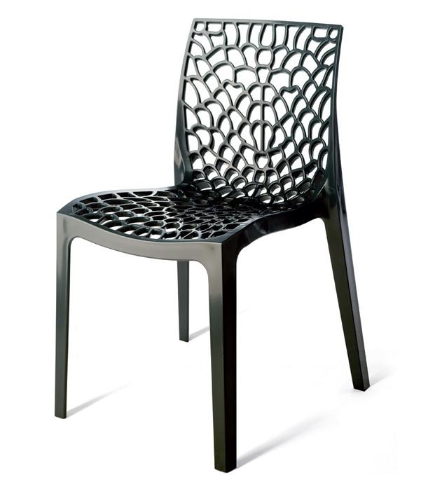 gdegdesign Chaise design gris anthracite - Eva