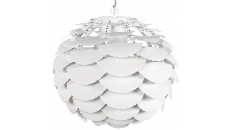 gdegdesign Lustre suspension design blanche à pétales - Aira