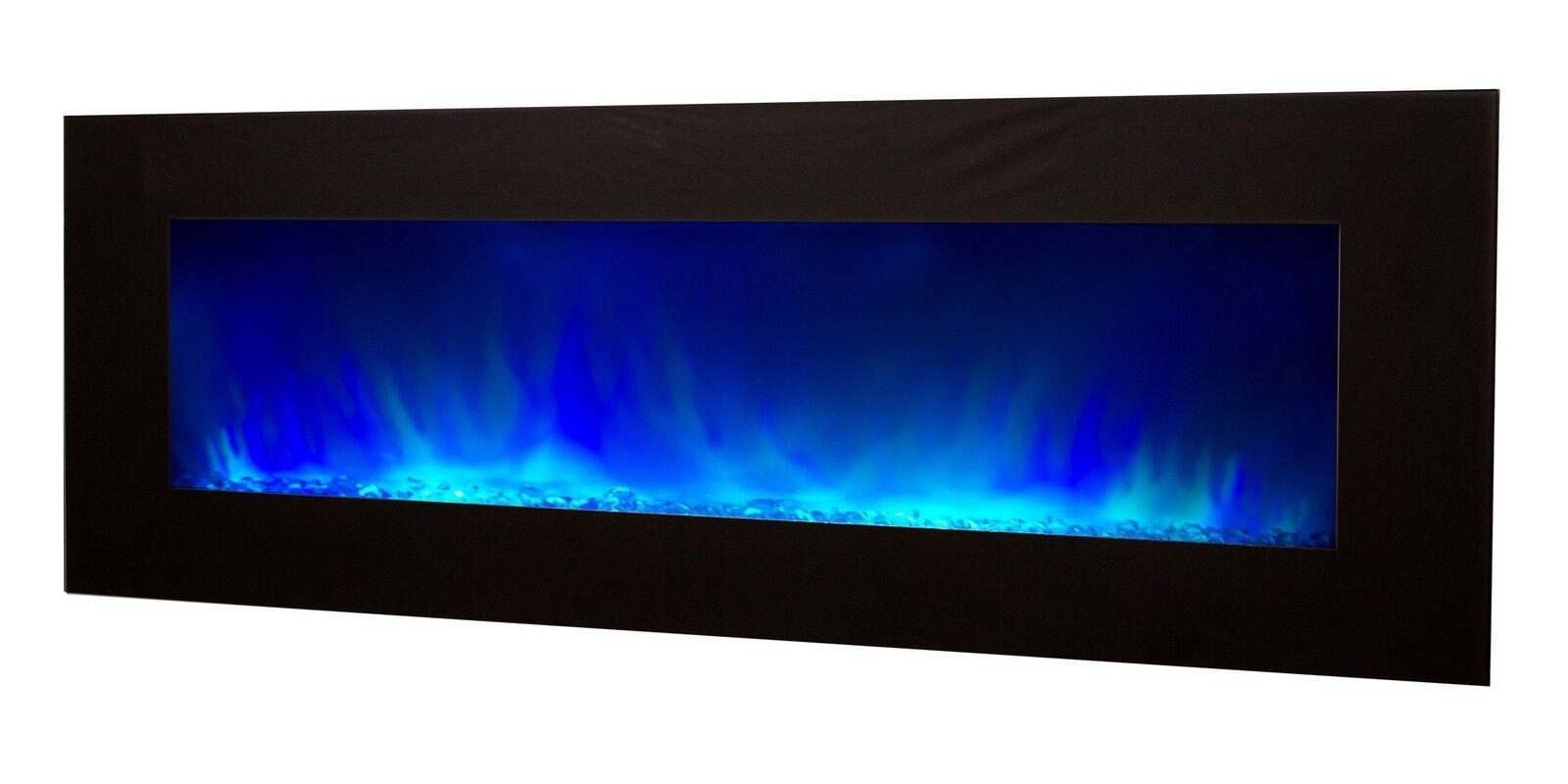 gdegdesign Grande cheminée électrique XXL noire décorative lumineuse LED - Volcano 5XL