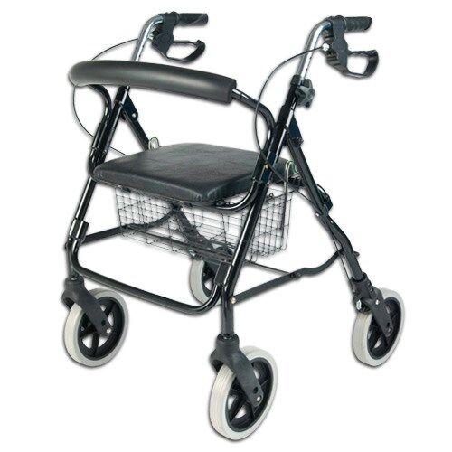 NRS Déambulateur pliable 4 roues avec siège
