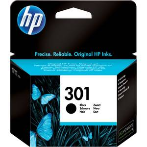 HP Cartouche jet d'encre HP noire N°301. 190 pages. 3ml. Pour DeskJet 1050, 2050, 2050s, 2510, 3000 pour imprimante HP J510A - CH561EE