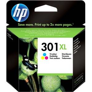 HP Cartouche jet d'encre HP 3 couleurs N°301XL. 330 pages. 6ml. Pour DeskJet 1050, 2050, 2050s, 2510, 3000 pour imprimante HP J611A - CH564EE