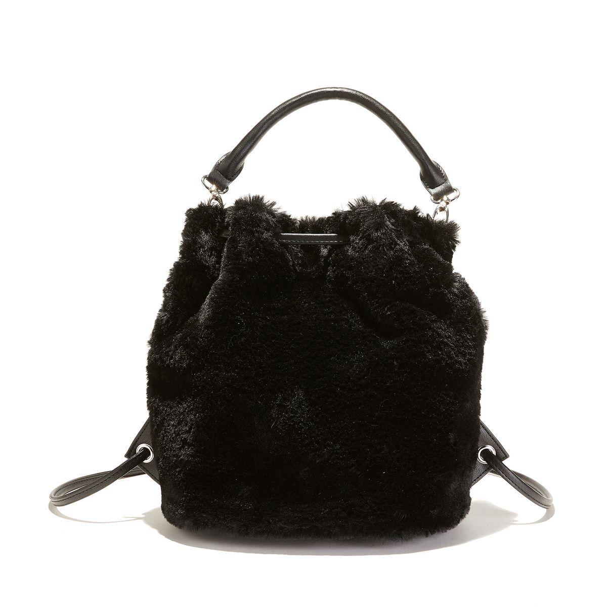 5313c12299 La Redoute Sac à main avec porté sac à dos, façon fourrure - LA REDOUTE ...