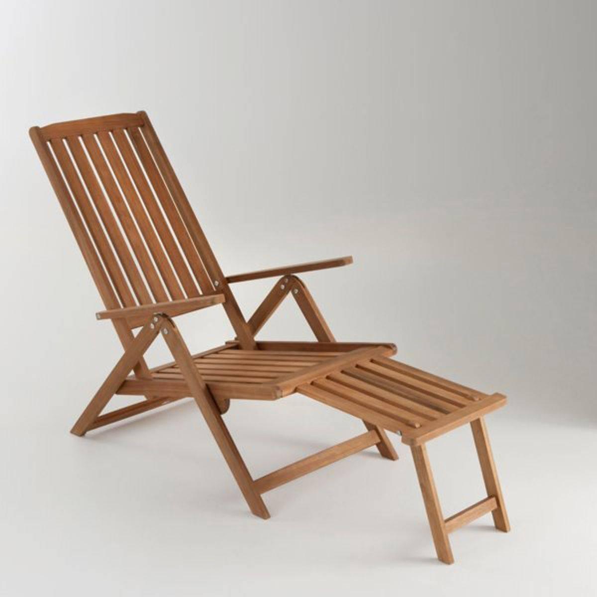 La Redoute Chaise longue de jardin 5 positions acacia - LA REDOUTE INTERIEURS