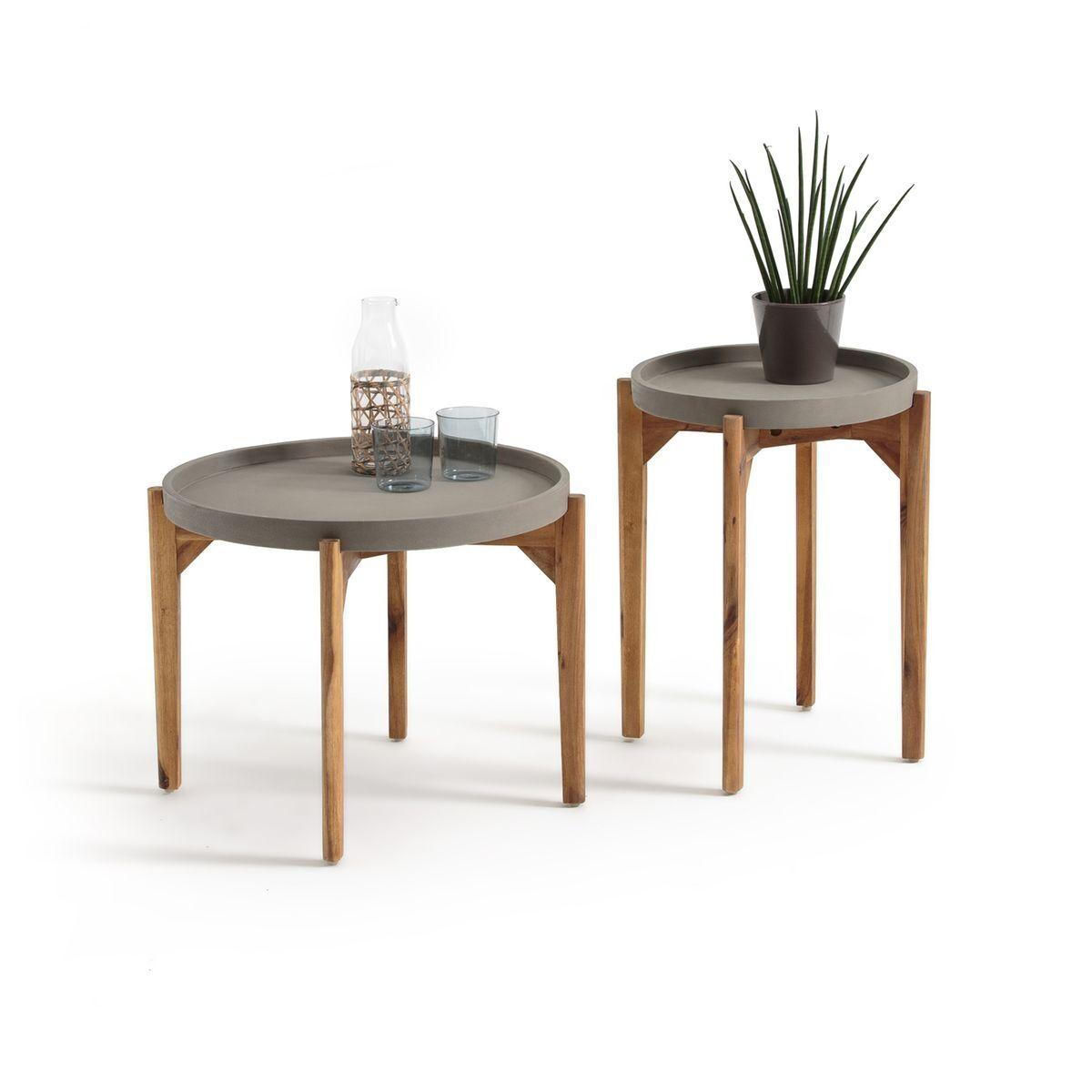 La Redoute Table basse ronde BANDIATTO (lot de 2) - LA REDOUTE INTERIEURS