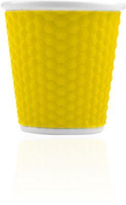 Les Artistes Gobelet Les Artistes Nid d'abeille 10 cl jaune A-0937