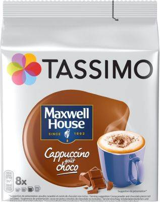 Tassimo Dosette Tassimo Tassimo Café Maxwell House Cappuccino Choco X8