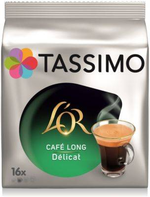 Tassimo Dosettes exclusives Tassimo Café L'OR Long Délicat X16