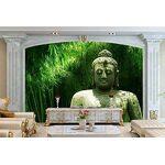 Papier peint 3D Bambou Pierre Bouddha Statue Moderne Salon Chambre Grande... par LeGuide.com Publicité