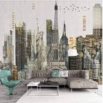 HUILIYI Papier peint au plafond 3D bricolage Architecture Art Print affiche... par LeGuide.com Publicité