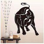 Ddpoa Raging Bull Wall Sticker Pour Salon Décoration Murale Évider Animal... par LeGuide.com Publicité