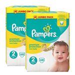 pampers  Pampers New Baby Nappies Jumbo Pack, Size 2, 2 x 68 Pack Votre... par LeGuide.com Publicité