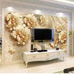 Czxmp Personnalisé Mur Papier Peint 3D Stéréoscopique Bijoux Perle Fleur... par LeGuide.com Publicité