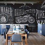 Yyyaa Personnalité rétro poing grande murale moto locomotive restaurant... par LeGuide.com Publicité
