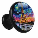 Indimization Peinture à l'huile Tour Eiffel Noir 4 bouton de meuble... par LeGuide.com Publicité