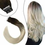 Ugeat 18Pouces/45cm Extensions Cheveux Bandes Adhesive Brun Balayage... par LeGuide.com Publicité