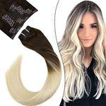 Ugeat 16Pouces Tete Entiere Clip in Extensions Hair 10Pieces 100Grammes... par LeGuide.com Publicité