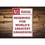 Qidushop Panneau de stationnement pour Petit-Fils avec Inscription «... par LeGuide.com Publicité