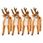 FLAMEER 4pcs Figurine Réaliste Animaux Cerf Décoration Maison Jardin... par LeGuide.com Publicité