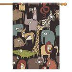 INTERESTPRINT Bannière de Maison 71,1 x 101,6 cm Animaux africains Décoration... par LeGuide.com Publicité