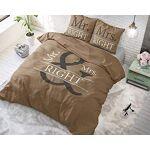 SLEEP TIME Housse de Couette Mr. and Mrs Right, 200cm x 220cm, Mit 2... par LeGuide.com Publicité