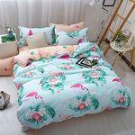 Stillshine Parure de lit Flamant Polyester-Coton Bleu Rose Vert Gris... par LeGuide.com Publicité