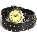 Outletissimo® Montre Bracelet Cuir Rivets Fashion Femme Boule Bracelet... par LeGuide.com Publicité