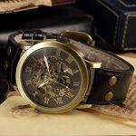 Moliies Bronze Shell Bronze Surface Black Belt Montre mécanique de Haute... par LeGuide.com Publicité