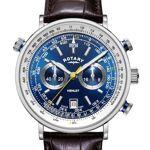rotary  Rotary chronographe Henley Homme Cadran Bleu Bracelet en Cuir Marron... par LeGuide.com Publicité