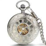JewelryWe Montre de Poche Gousset Squelette Mécanique Manuel Rayure Fleur... par LeGuide.com Publicité