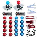 KEESIN Pièces de bricolage 2 Joueurs LED Arcade, 2 Encodeurs USB + 2... par LeGuide.com Publicité