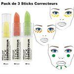 inconnu  Inconnu Miss Cop Cover Stick 3 Correcteurs de Teint Sticks Jaune... par LeGuide.com Publicité