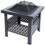 RayGar Brasero carré en métal avec Couvercle en Maille et tisonnier Noir... par LeGuide.com Publicité
