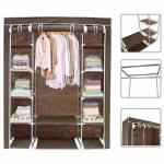 Todeco Armoire Penderie marron en tissu Garde robe 3 portes avec fermeture... par LeGuide.com Publicité