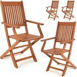 deuba  Deuba Set de 4 chaises de jardin pliantes  Sydney  en bois d'acacia... par LeGuide.com Publicité