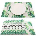 SueH Design Lot de 8 Sets de Table 45 * 30 CM Vinyle Tissé Feuilles Tropicales... par LeGuide.com Publicité