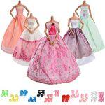 Asiv 17 Pcs Accessoires pour poupées de 30cm, 5 Robe de Mariée Vêtements... par LeGuide.com Publicité