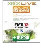 ea sports  Microsoft Carte Xbox 360 Live 12 mois + 800 points Fifa 12 (Jeu... par LeGuide.com Publicité
