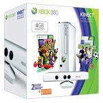 Microsoft Console Xbox 360 4 Go + Kinect blanche + Sports + Kinect adventures... par LeGuide.com Publicité