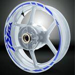 Stickman Vinyls Réfléchissant Bleu Jante de moto décalcomanies autocollant... par LeGuide.com Publicité